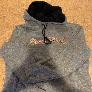 Victoria secret pink bling Sherpa hoodie